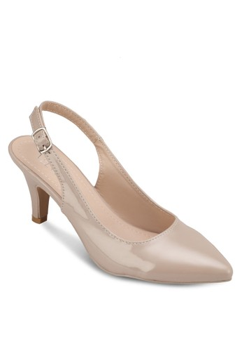 露esprit 鞋跟踝帶中跟鞋, 女鞋, 厚底高跟鞋