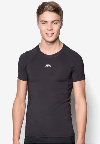 esprit旗艦店素色短袖緊身衣, 服飾, 彈力運動服飾