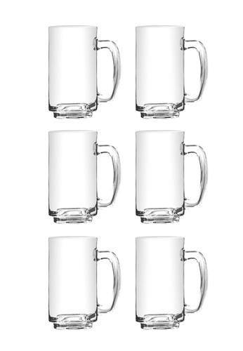 Union Glass n/a Thailand Premium Clear Glass Beer Mug Beer Lovers 380ml -13 oz Set of 6 0AAD9HL7B5B368GS_1