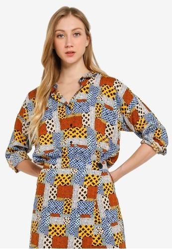 Compania Fantastica multi African Print Shirt 04444AAE115278GS_1