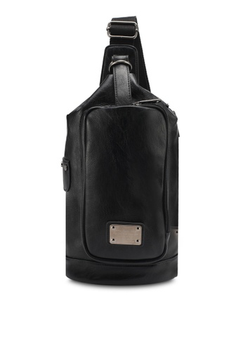 High Cultured black PU Leather Chest Bag HI002AC0SPDCMY_1