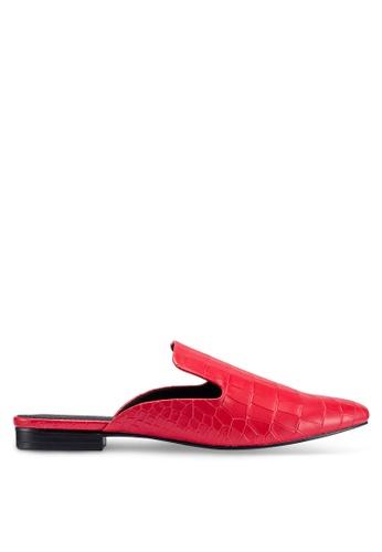TOPSHOP 紅色 鱷魚紋樂福鞋 9D671SH6D688C2GS_1