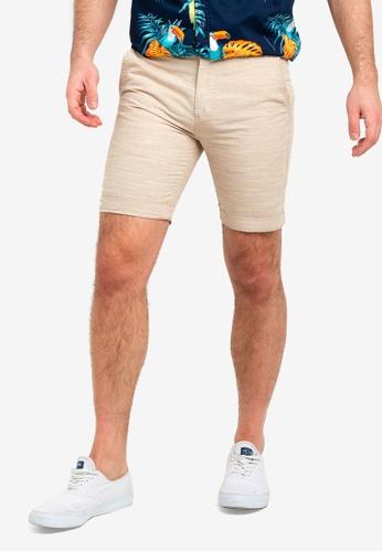 Cotton On 白色 水洗休閒短褲 B52FFAAD04B720GS_1