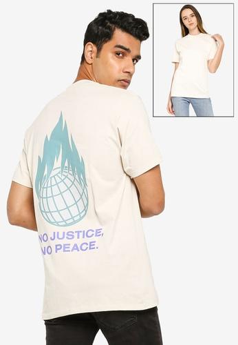 OBEY beige Resistance T-Shirt D566BAA28D3CA6GS_1
