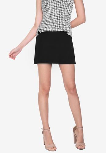 ZALORA WORK black Zip Detail Skirt 600EFAA6F38578GS_1