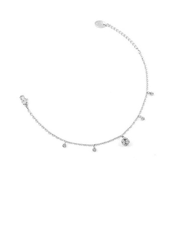 Glamorousky silver Elegant Ball Anklet with Silver Austrian Element Crystals FB2B7AC0FAA0D9GS_1