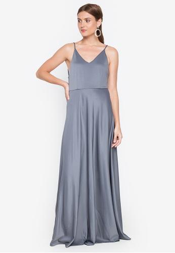 Tantease grey Elise Long Dress 09FF0AA443AAB9GS_1