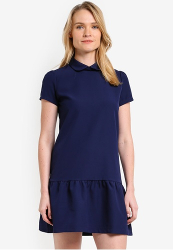 ZALORA navy Frill Hem Dress 60067AAA193D25GS_1