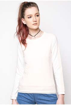 Quilted Combi Pullover