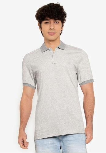 Springfield grey Micro-Striped Slim Fit Jersey Polo BAA1FAAE7B1936GS_1
