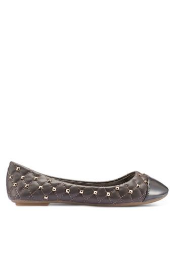 Carlton London 灰色 菱格紋平底鞋 33F86SHF9A81F6GS_1