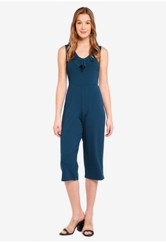 a5fd8c263f 60% OFF Dorothy Perkins Ruffle Culotte V Neck Jumpsuit RM 269.00 NOW RM  107.90 Available in several sizes