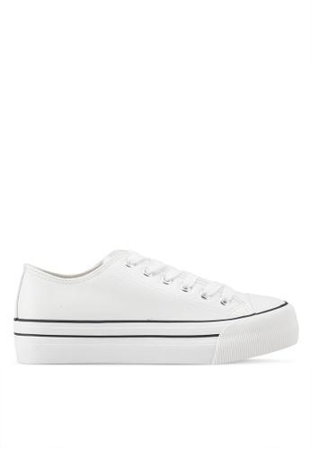 Rubi white Platform Jodi Low Rise Sneakers C9524SH87D1053GS_1