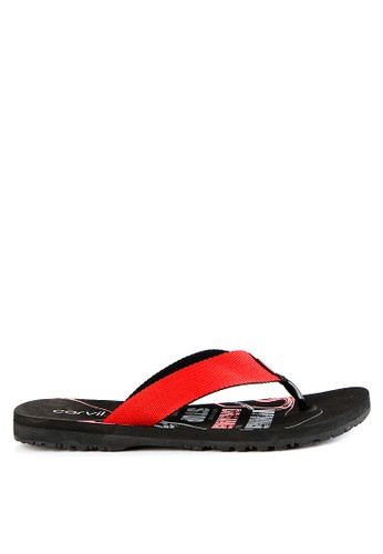 CARVIL black and red and multi Carvil Sandal Sponge Man Dreamer Black-Red C1362SHC82E4A5GS_1