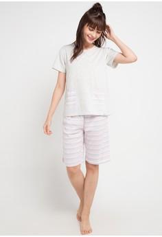 5af2476b 50% OFF Puppy Stripe Basic Sleepwear Rp 299.900 SEKARANG Rp 149.950 Ukuran  S M L XL XXL