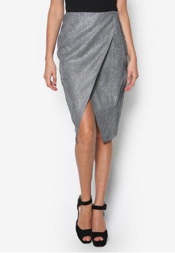 金屬感裹飾esprit outlet及膝短裙, 服飾, 裙子