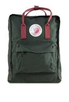 Fjallraven Kanken  Forest Green Ox Red Kanken Classic Backpack