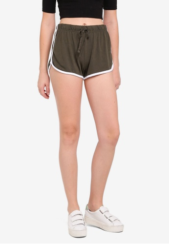 Cotton On green Retro Contrast Bind Shorts 6115DAA0852BE3GS_1