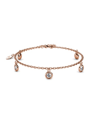Her Jewellery gold Charlotte Bracelet (Rose Gold) - Made with premium grade crystals from Austria AB1F6ACC7499A0GS_1