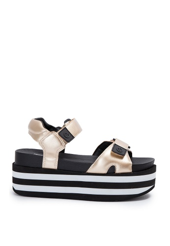 No Name No Name CHER- POPPY SANDALS In Gold 134E7SH3C42428GS_1