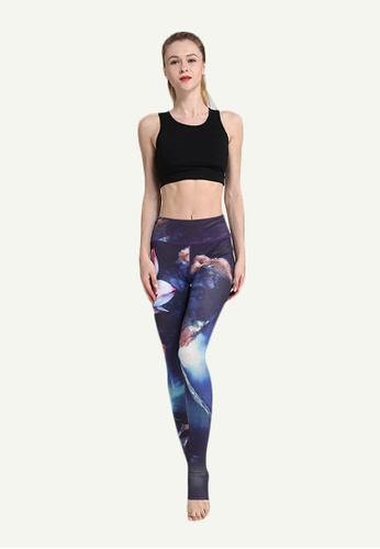 B-Code blue ZYG5023D-Lady Quick Drying Running Fitness Yoga Sports Leggings-Blue DDCB2AAC0F9ACDGS_1