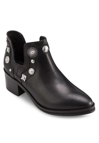 Octavia 造esprit 高雄型鉚釘麂皮踝靴, 韓系時尚, 梳妝
