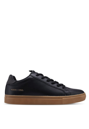 North Star black Laced Up Sneakers 4268FSH1D9E20FGS_1