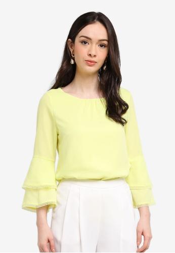 Wallis yellow Lime Crochet Trim Top 7DB58AA7A87F4AGS_1