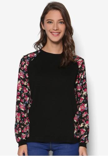 拉克蘭印花長袖上衣, 韓系時尚,esprit 品牌 梳妝