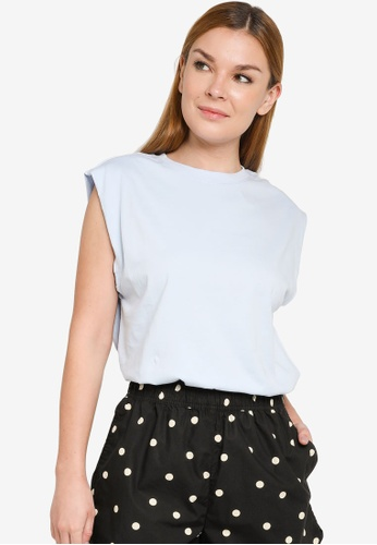H&M blue Sleeveless T-Shirt DA982AA7632434GS_1
