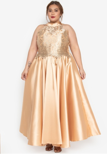 daee106889c Shop Get Laud Plus Kaiko Plus Size Maxi Dress Online on ZALORA ...