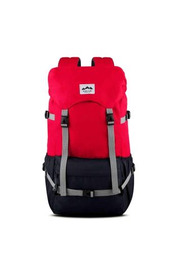 Sollu Bag's red Men's Semi Carrier Pack, WanderPack Peak Red Navy SO001AC45VMWID_1