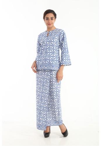Amar Amran blue Kurung Kedah Batik Pastel BECB0AAE431667GS_1