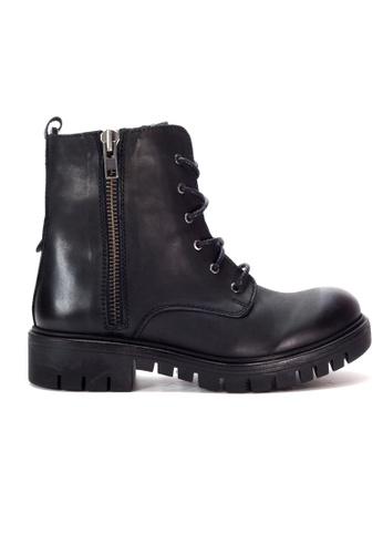 Shu Talk black Zippy Lace Up Ankle Boots SH397SH0GMR5SG_1