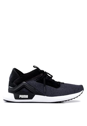 PUMA black Run/Train Rogue Shoes 4B0DASHD20380DGS_1