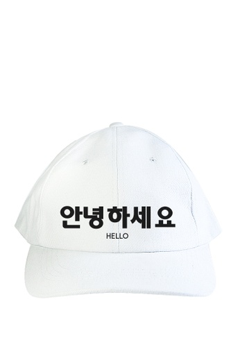 HYPE MNL white Korean Tee Hello Baseball Cap F0FE7AC35FDDB2GS_1