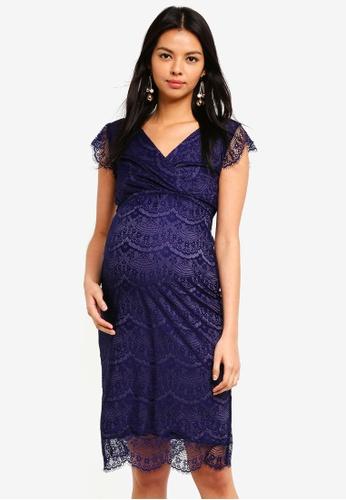 Tiffany Rose blue Maternity Imogen Shift Dress 9295AAA071423AGS_1