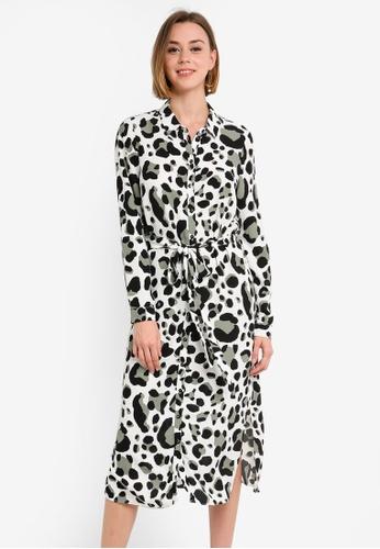 d45ade3c01a Buy Wallis Black Animal Print Shirt Dress Online on ZALORA Singapore