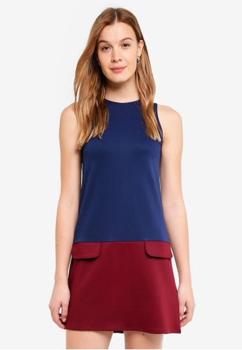 ZALORA BASICS multi Color Block Shift Dress D78D8AA828617CGS_1