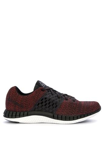 Reebok red and multi Print Run Ultraknit Running Shoes C6B81SH7593D7FGS_1