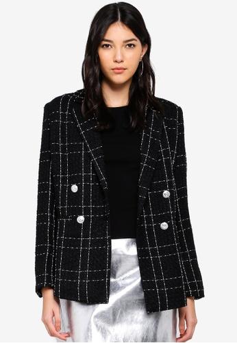 Miss Selfridge black Black Boucle Jacket A01FBAA69AB2ABGS_1