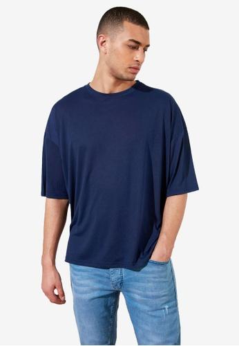 Trendyol navy Basic Crew Neck Longline T-Shirt D4427AAB37235DGS_1