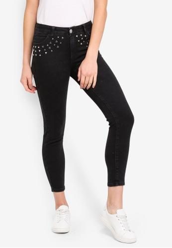 Cotton On black Mid Rise Grazer Skinny Jeans AAD82AA9755830GS_1