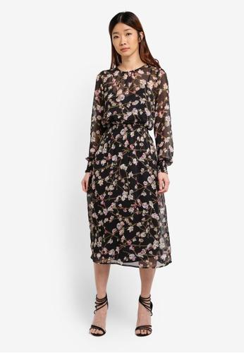 ada814013b Buy WAREHOUSE Sweet Cherry Midi Dress Online on ZALORA Singapore