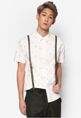 鳳梨印花短袖襯衫, 服飾,esprit童裝門市 襯衫