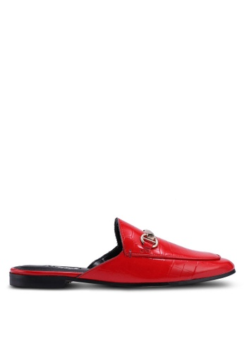 Dune London red Gene Metal Trim Mules 09164SHA171625GS_1