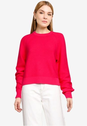 French Connection pink Lillie Mozart Crew Neck Jumper 0813AAA59F7E07GS_1