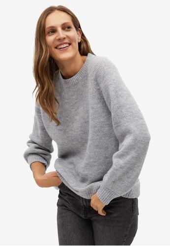 Mango 灰色 Oversize 針織Sweater E8CB1AA1528EC4GS_1