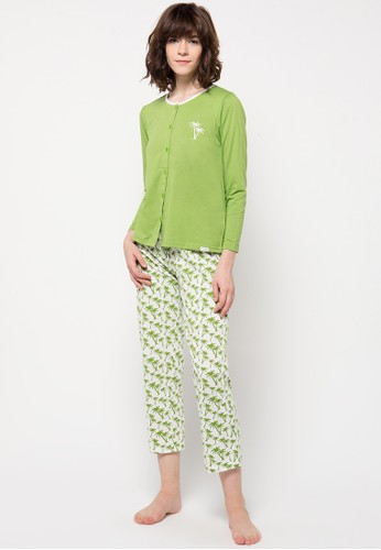 PUPPY white and green Laura Sleepwear PU643AA09XYCID_1