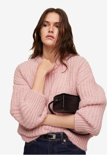 Mango pink Knitted Braided Sweater 64F3BAA7027DE3GS_1